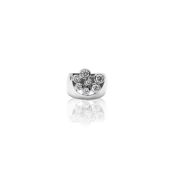 Sterling Silver Bold True Gem Ring - Sterling Silver 925