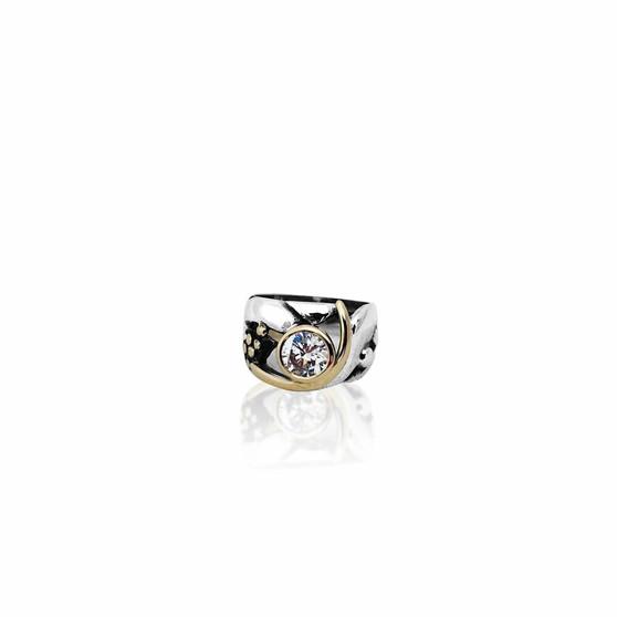 Origin Ring - Sterling Silver 925 ∙ 9ct Gold