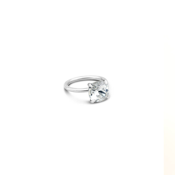 Starlight Cushion Cut Ring in Sterling Silver 925