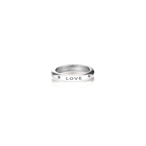 Faith Hope Love Ring in Sterling Silver 925
