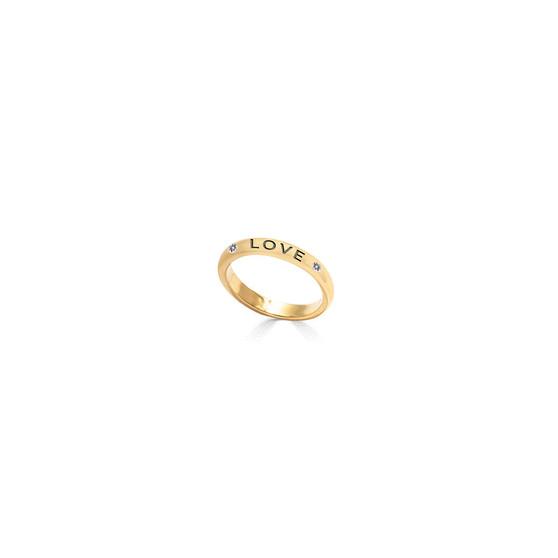 18ct Gold Vermeil Faith Hope Love Ring