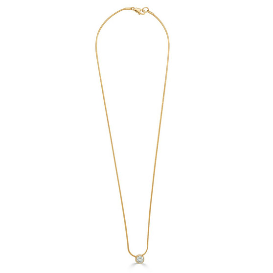 18ct Gold -Plated Solitaire  Necklace