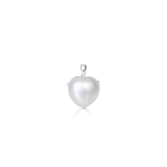Petite Clifton Pearl Heart Pendant