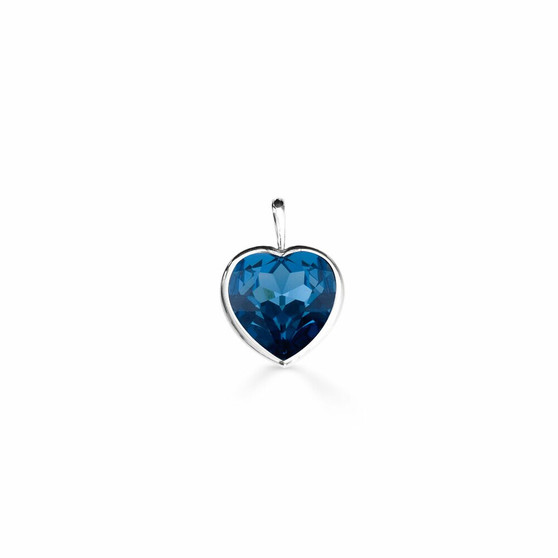 Seaside Denim Heart Pendant