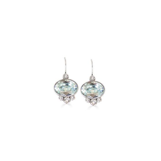 Summertime Blue Oval Drop Earrings
