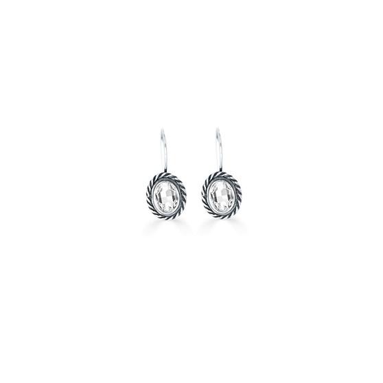 Atlantis Crystal Oval Drop Earrings