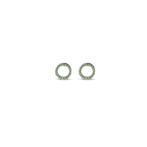 Peridot Illusion Stud Earrings