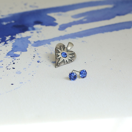 Sapphire Cornflower Blue Heart Enhancer