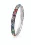 Rainbow Eternity Bangle  • Miglio burnished silver • Multi-colour Swarovski® crystals • Small 64 mm diameter • Medium 67 mm diameter