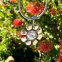 Bold Daisy Pendant - Burnished Silver / Flower Pendant / Daisy Jewellery / Swarovski Crystal / Floral Jewellery / Gift Ideas