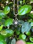 Cosmos Pendant - Burnished Silver / Flower Pendant / Swarovski Crystal / Boho / Floral Jewellery / Gift Ideas