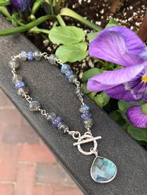 Labradorite and Tanzanite bracelet