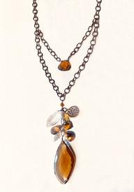 Unique double stranded necklace