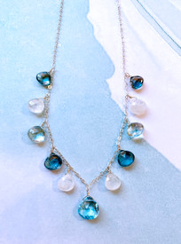 this is Blue topaz are the lighter stones