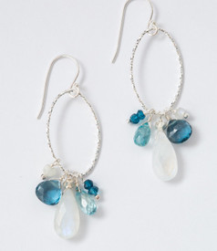 moonstone and blue topaz earrings