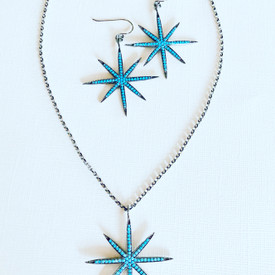 """Small Star earrings shown here are 3/4"""" in diameter."""