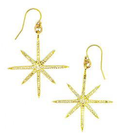 Celestial Star Earrings in White Topaz (large)