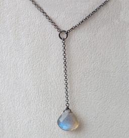 """Labradorite Silver """"Y"""" Necklace"""