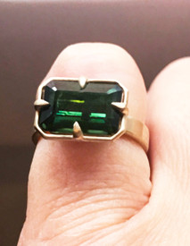 Green Tourmaline Game of Thrones Ring