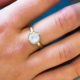Vibrant Moonstone Ring