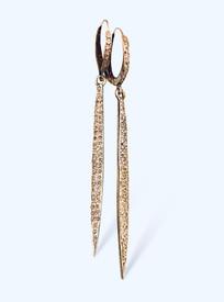 Aria Diamond Hoop and Dagger Earrings