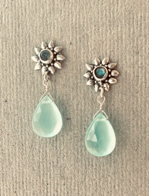 Feminine and light aqua earrings