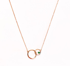 Customizable Entwined Circles 14k Gold with Stones