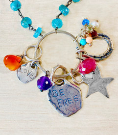 Handmade charms with two sided messages