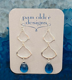 Blue  Quartz Pagoda Earrings