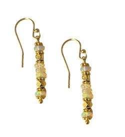 Opal Linear Vermeil Earrings