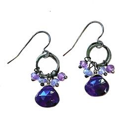Matching earrings are here:https://pamolderdesigns.com/newest/amethyst-fringe-earring/