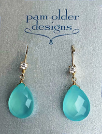 Diamond and Aqua Chalcedony