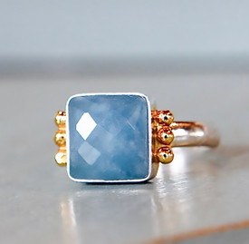 Our newest color is a vibrant blue aquamarine