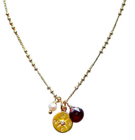 Gorgeous vermeil necklace is also available in silver