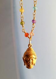 Buddha Head on Colorful Chain