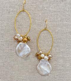 Vermeil Keshi Pearl Earrings