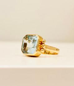 Celeste Aquamarine Ring in 18K Gold