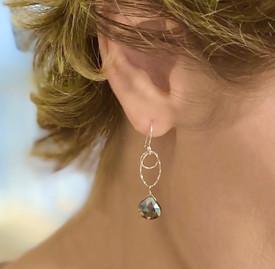 Pyrite Glitter Earring