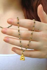 Vermeil Buddha Necklace