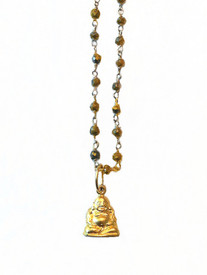 """38"""" long Buddha necklace goes with everything!"""