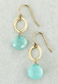 Chalcedony dangle earrings in our most popular style