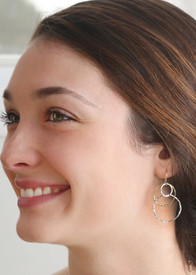Gold vermeil and silver ABC Hoops