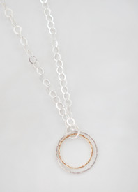 Coordinating Mingled Metal Necklace