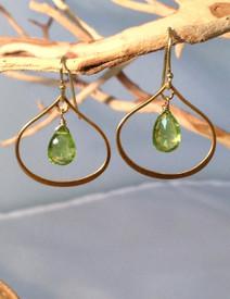 Peridot and Vermeil Earrings