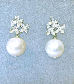 Sterling Silver with Faux Glass Pearls