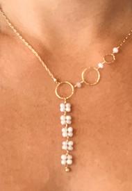Silverite Y necklace