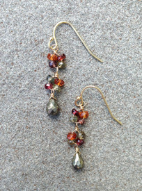 Tundra Sapphires and Pyrite in a great small everyday earring.