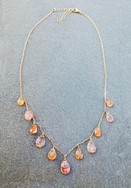 It's Peachy, Sunstone Necklace without vermeil nuggets
