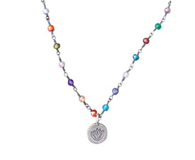 Colorful Lotus Flower Necklace