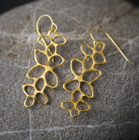 Interesting gold earrings that work with everything